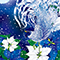蒼夜雪鶏図